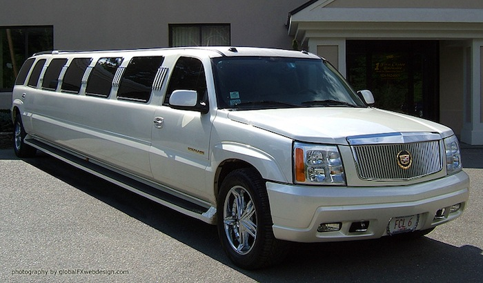 MASS 18 Passenger Cadillac Limousine for Large Groups in Massachusetts