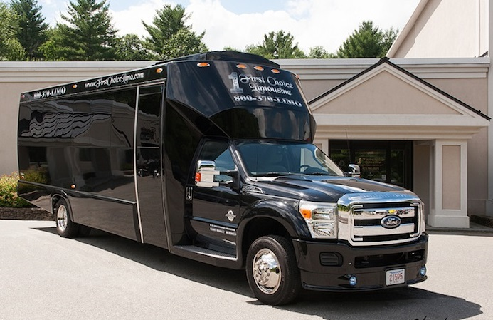 MASS Party Bus Charters for up to 26 Passengers is the largest party bus rental in Worcester/Boston MA with a Fully Stocked Bar and Mood Lighting.